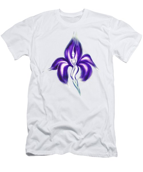 Beautiful Dancing Lady Flower Artistic Illustration Art Photo Print Men's T-Shirt (Slim Fit) by Awen Fine Art Prints