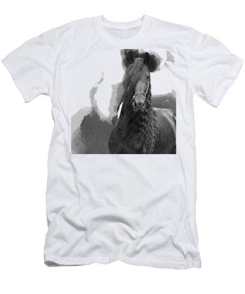 Beautiful Friesian Horse Men's T-Shirt (Athletic Fit)