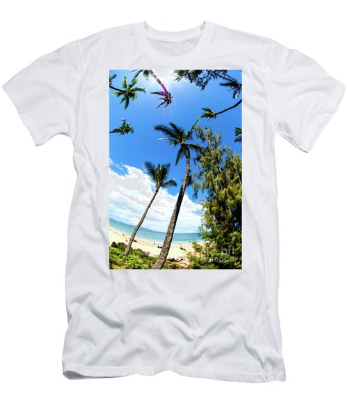 Men's T-Shirt (Slim Fit) featuring the photograph Beautiful Palms Of Maui 17 by Micah May