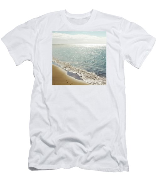 Men's T-Shirt (Athletic Fit) featuring the photograph Beauty And The Beach by Sharon Mau