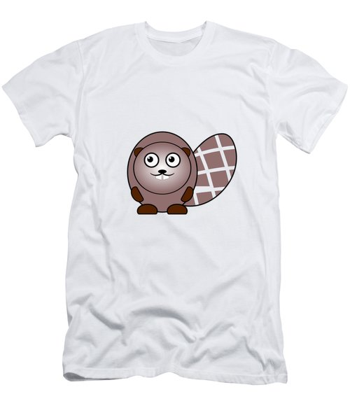 Beaver - Animals - Art For Kids Men's T-Shirt (Slim Fit) by Anastasiya Malakhova