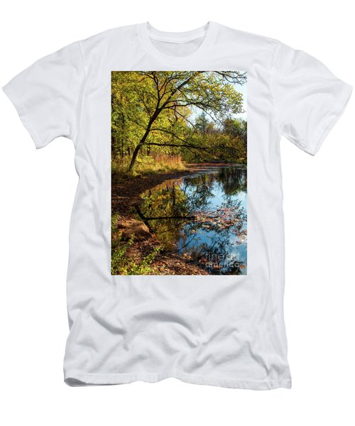 Men's T-Shirt (Slim Fit) featuring the photograph Beaver's Pond by Iris Greenwell