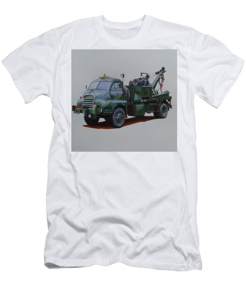 Men's T-Shirt (Slim Fit) featuring the painting Bedford Wrecker Afs by Mike Jeffries