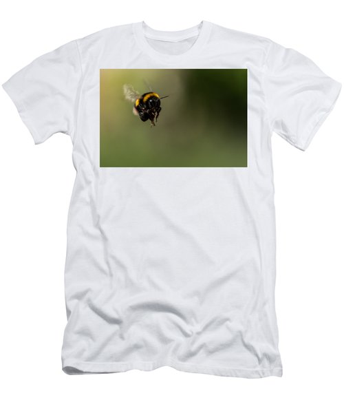 Bee Flying - View From Front Men's T-Shirt (Athletic Fit)