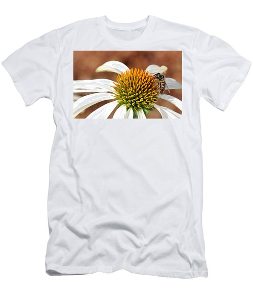 Men's T-Shirt (Athletic Fit) featuring the photograph Bee In The Echinacea  by AJ Schibig
