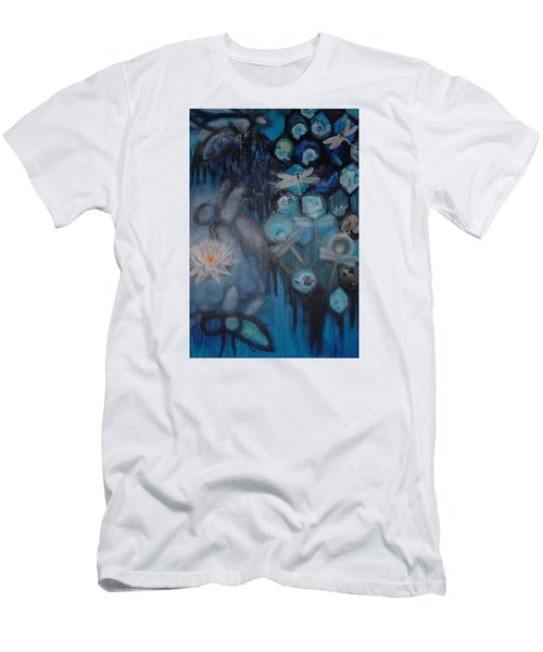 Men's T-Shirt (Slim Fit) featuring the digital art Beehive Blues by Diana Riukas