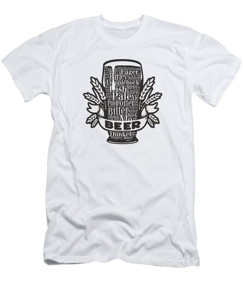 Beer Glass Men's T-Shirt (Athletic Fit)