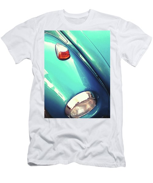 Men's T-Shirt (Slim Fit) featuring the photograph Beetle Blue by Rebecca Harman