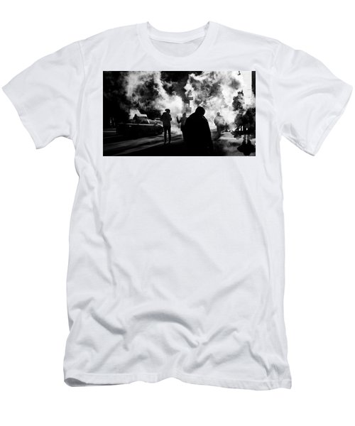 Men's T-Shirt (Athletic Fit) featuring the photograph Behind The Smoke by Johnny Lam