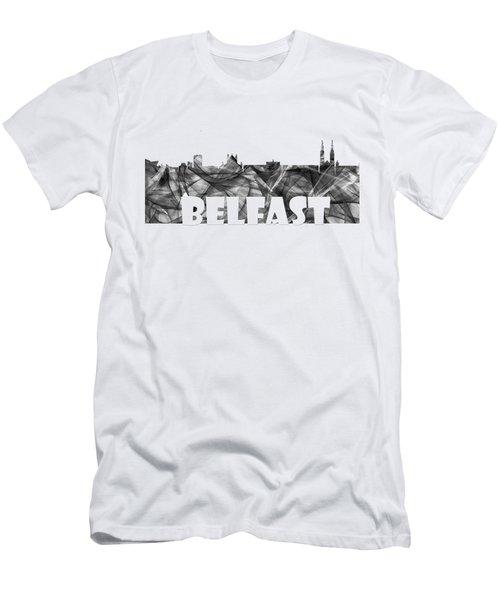 Belfast Ireland Skyline Men's T-Shirt (Athletic Fit)