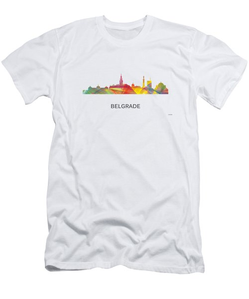 Belgrade Serbia Skyline Men's T-Shirt (Athletic Fit)