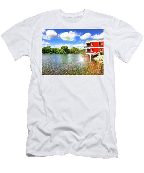 Belize River House Reflection Men's T-Shirt (Athletic Fit)