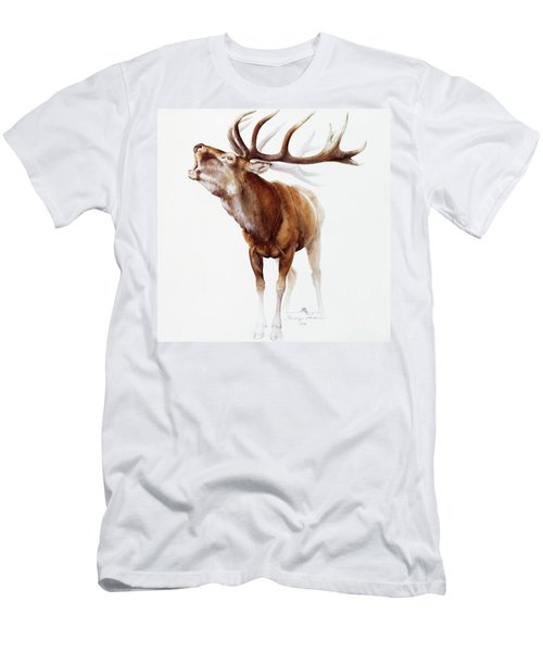 Belling Stag Watercolor Men's T-Shirt (Athletic Fit)
