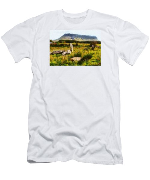 Men's T-Shirt (Slim Fit) featuring the digital art Benbulben Sligo by Charmaine Zoe
