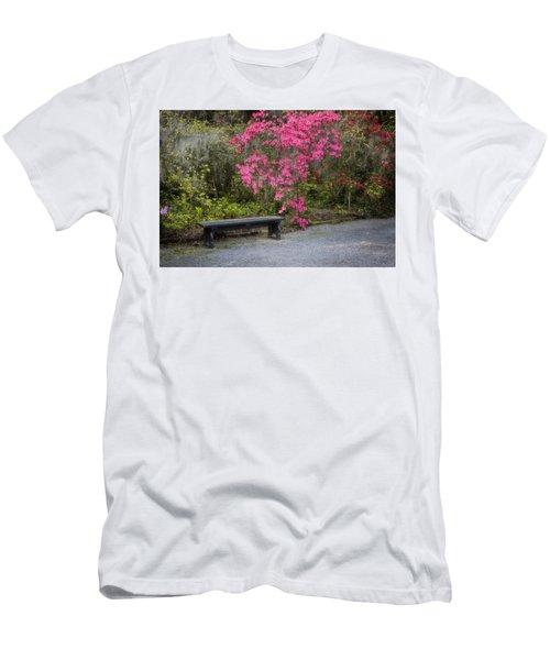 Bench In Azalea Garden Men's T-Shirt (Athletic Fit)