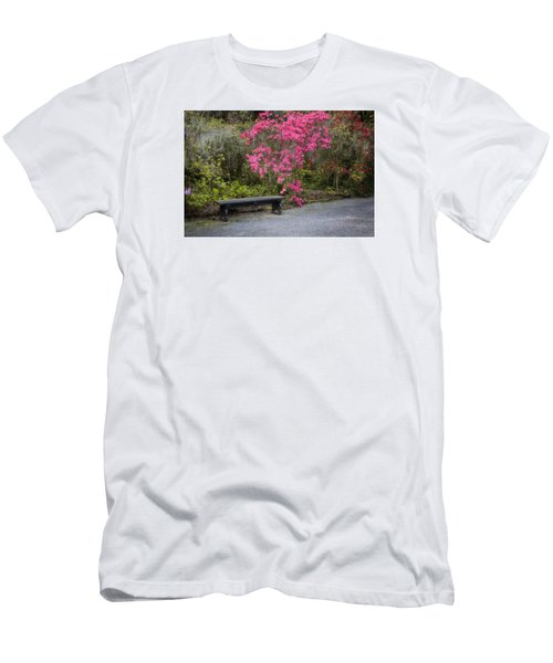 Bench In Azalea Garden Men's T-Shirt (Athletic Fit)