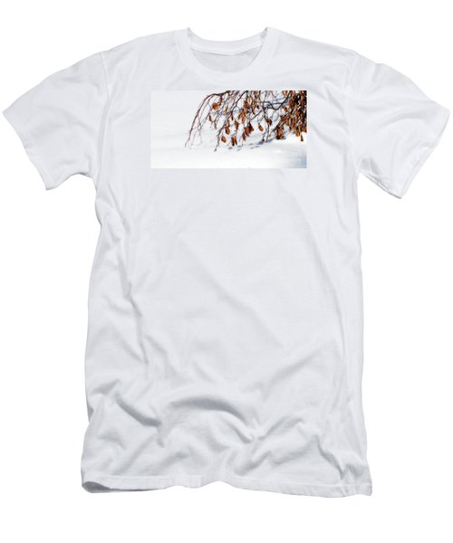 Men's T-Shirt (Slim Fit) featuring the photograph Bending With Silent Reach by Linda Shafer