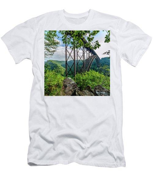 Beneath New River Gorge Bridge Men's T-Shirt (Athletic Fit)