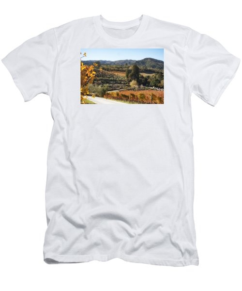 Men's T-Shirt (Athletic Fit) featuring the photograph Benziger Winery by Michael Hope