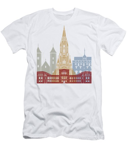 Bergen Skyline Poster Men's T-Shirt (Athletic Fit)
