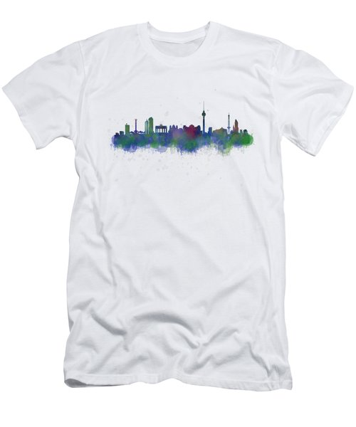 Berlin City Skyline Hq 2 Men's T-Shirt (Slim Fit)