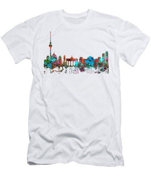 Berlin Germany Skyline  Men's T-Shirt (Athletic Fit)
