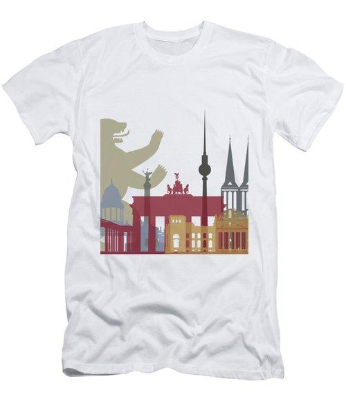 Berlin Skyline Poster Men's T-Shirt (Slim Fit) by Pablo Romero