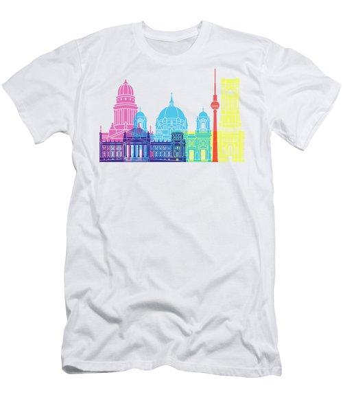 Berlin V2 Skyline Pop Men's T-Shirt (Slim Fit)