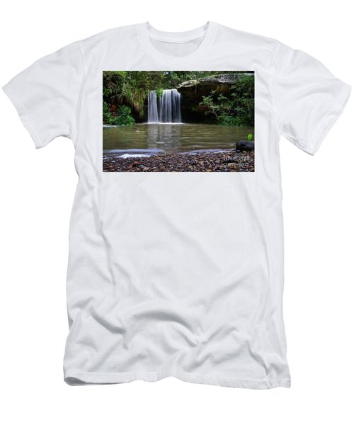 Men's T-Shirt (Slim Fit) featuring the photograph Berowra Waterfall by Werner Padarin