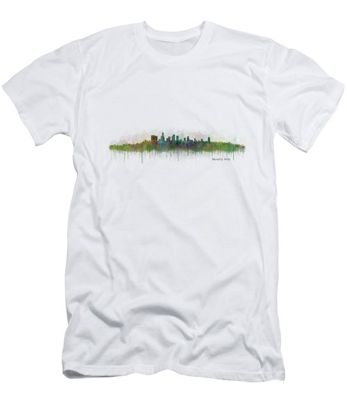Beverly Hills City In La City Skyline Hq V3 Men's T-Shirt (Athletic Fit)