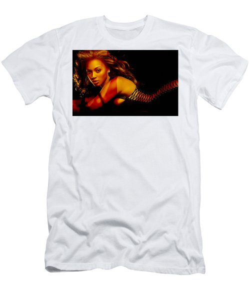 Beyonce Men's T-Shirt (Slim Fit) by Marvin Blaine