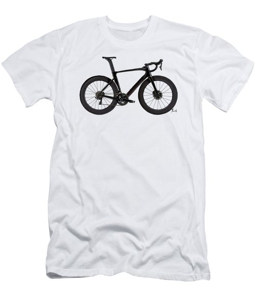 Bicicleta Para Fans. Black Bicycle Handmade Sketch. Gift For Bikers. Men's T-Shirt (Athletic Fit)