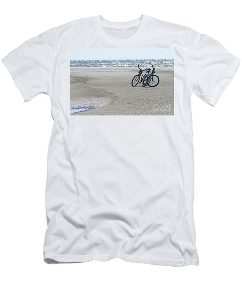 Bicycles On The Beach Men's T-Shirt (Athletic Fit)