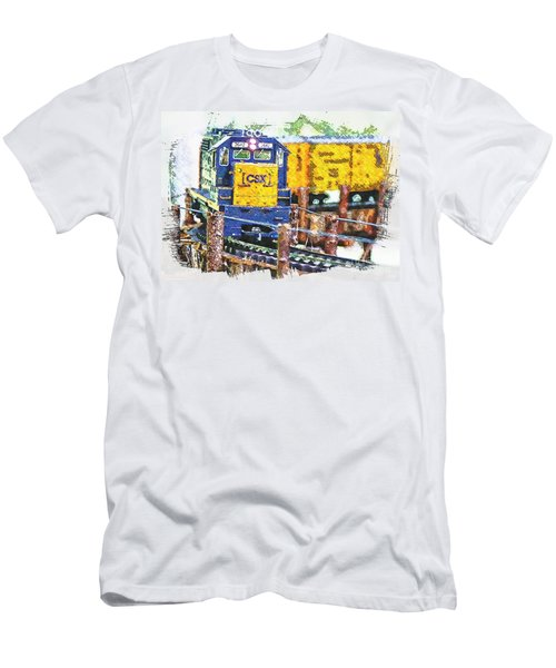 Men's T-Shirt (Slim Fit) featuring the photograph Big Bend by Robert Pearson