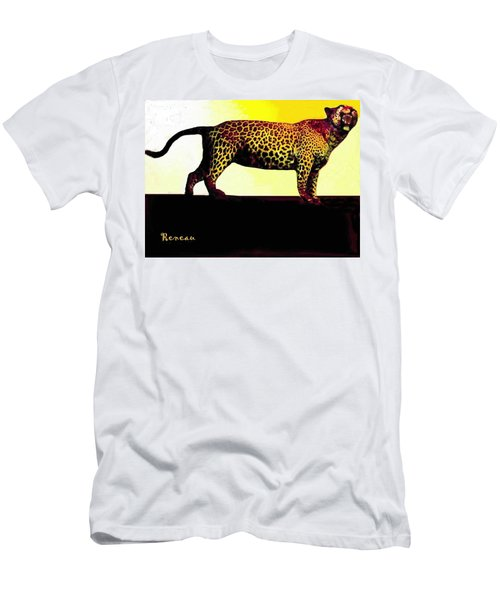 Big Game Africa - Leopard Men's T-Shirt (Slim Fit) by Sadie Reneau