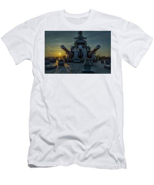 Big Guns At Sunset Men's T-Shirt (Slim Fit) by Denis Lemay