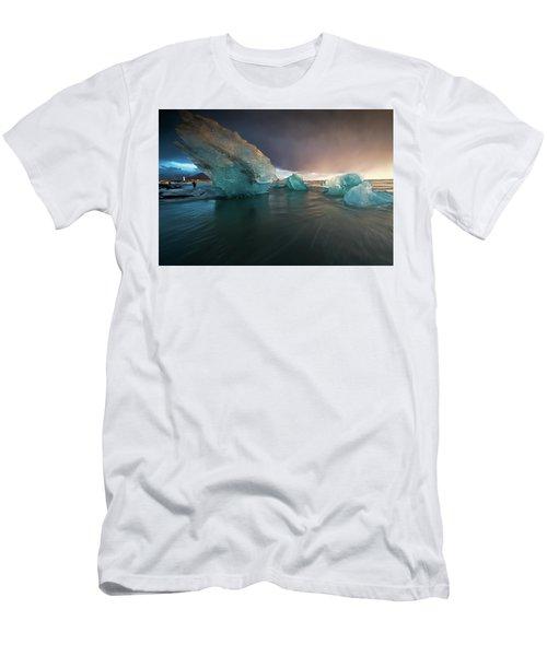Men's T-Shirt (Slim Fit) featuring the photograph Big Ice by Allen Biedrzycki