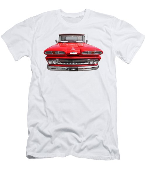 Big Red - 1960 Chevy Men's T-Shirt (Slim Fit) by Gill Billington
