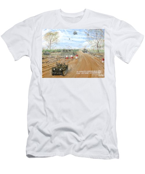 Big Red One Main Gate Di An Vietnam 1965 Men's T-Shirt (Athletic Fit)