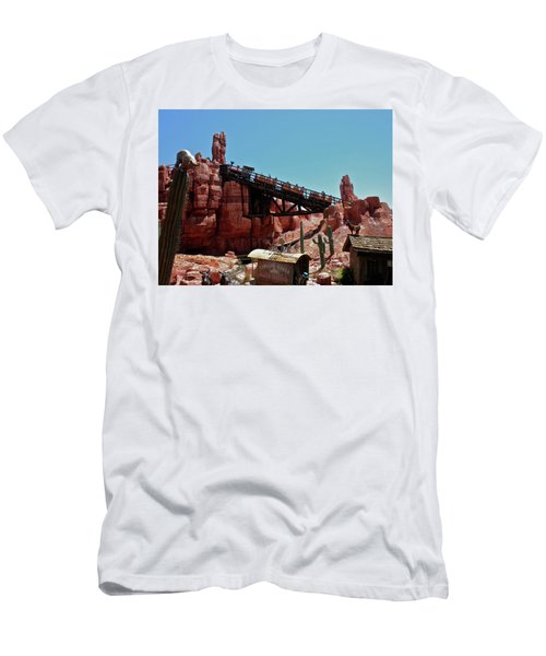 Big Thunder Mountain Walt Disney World Mp Men's T-Shirt (Slim Fit) by Thomas Woolworth