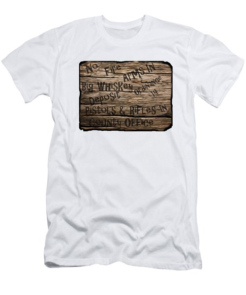 Big Whiskey Fire Arm Sign Men's T-Shirt (Athletic Fit)