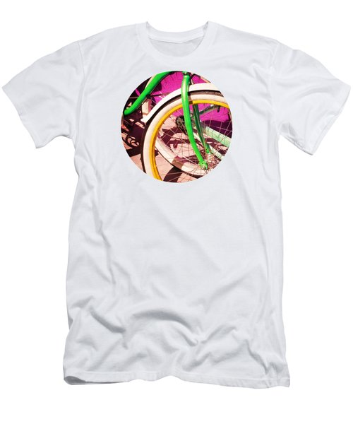 Bike Wheel T Shirt Men's T-Shirt (Slim Fit) by Valerie Reeves