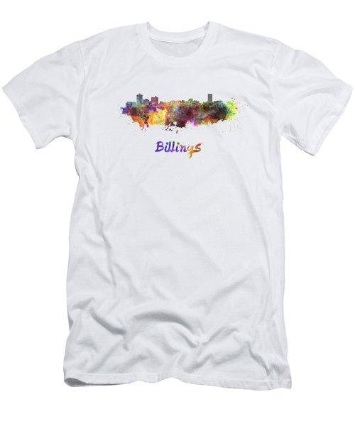 Billings Skyline In Watercolor Men's T-Shirt (Athletic Fit)