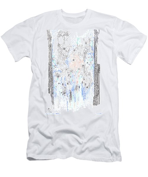 Bingham Fluid Or Paste Men's T-Shirt (Slim Fit) by Regina Valluzzi