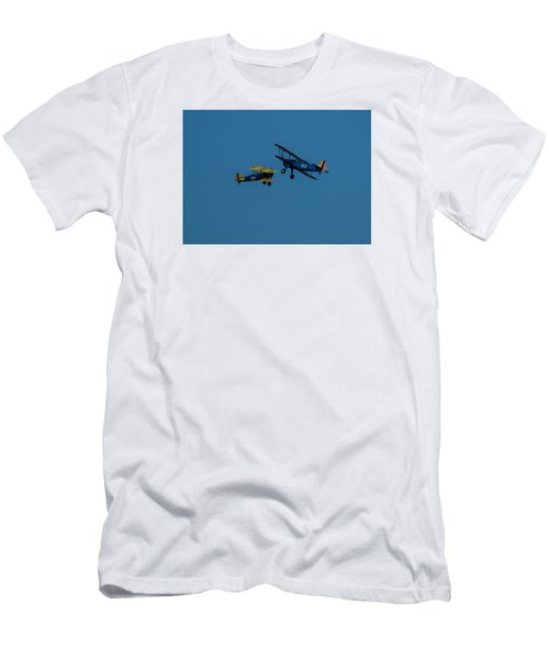 Biplanes Near Collision 5x7 Men's T-Shirt (Athletic Fit)