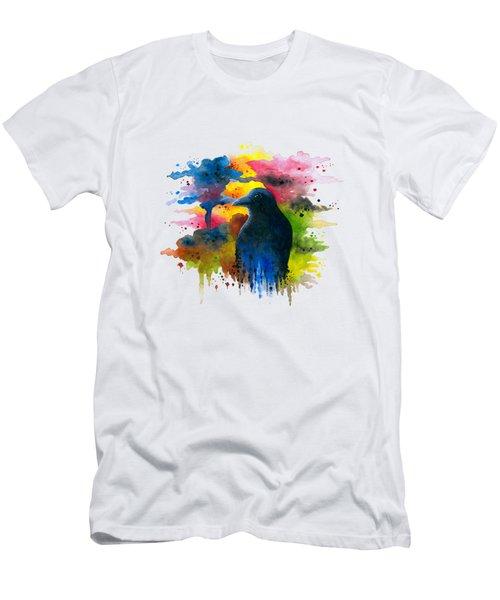 Bird 71 Crow Raven Men's T-Shirt (Athletic Fit)