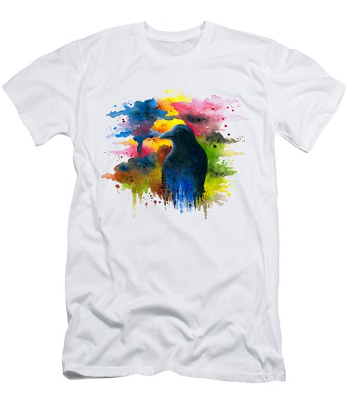 Bird 71 Crow Raven Men's T-Shirt (Athletic Fit)