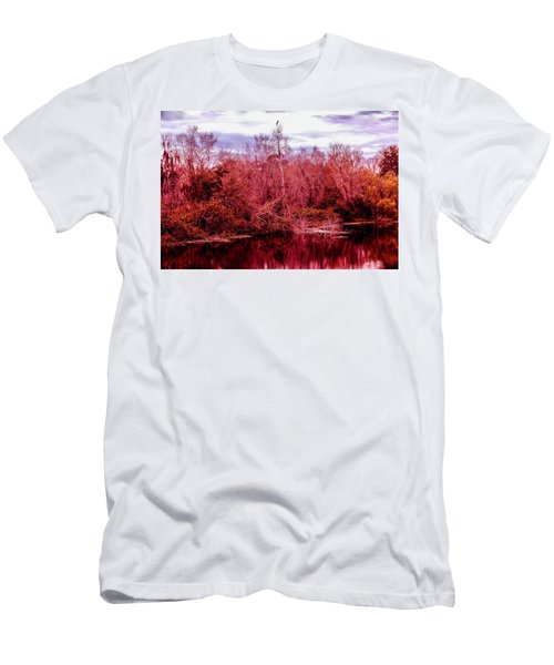 Men's T-Shirt (Slim Fit) featuring the photograph Bird Out On A Limb 2 by Madeline Ellis