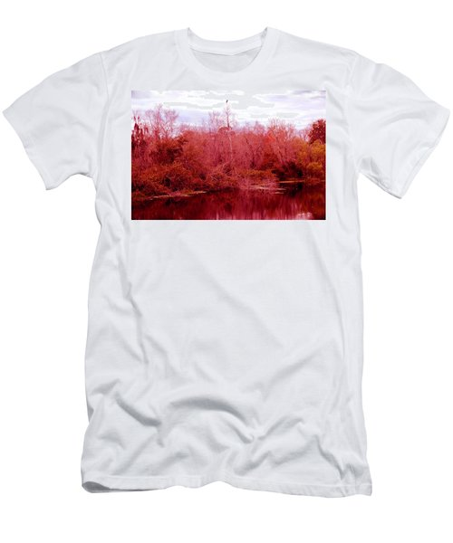 Men's T-Shirt (Slim Fit) featuring the photograph Bird Out On A Limb by Madeline Ellis