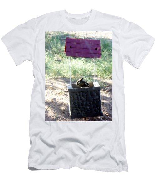 Bird Seed Thief Chipmunk Men's T-Shirt (Athletic Fit)